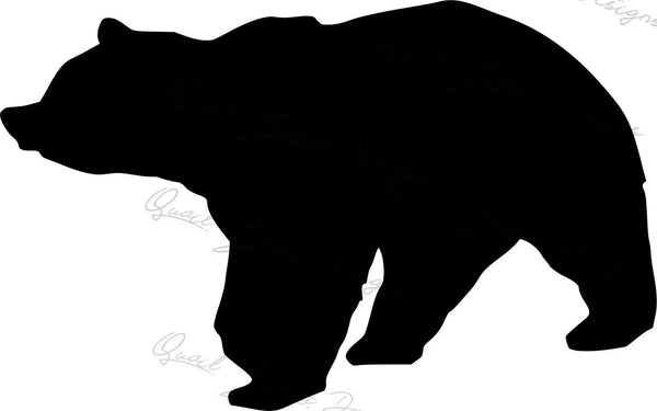 Bear Silhouette - Vinyl Decal Free Ship #225