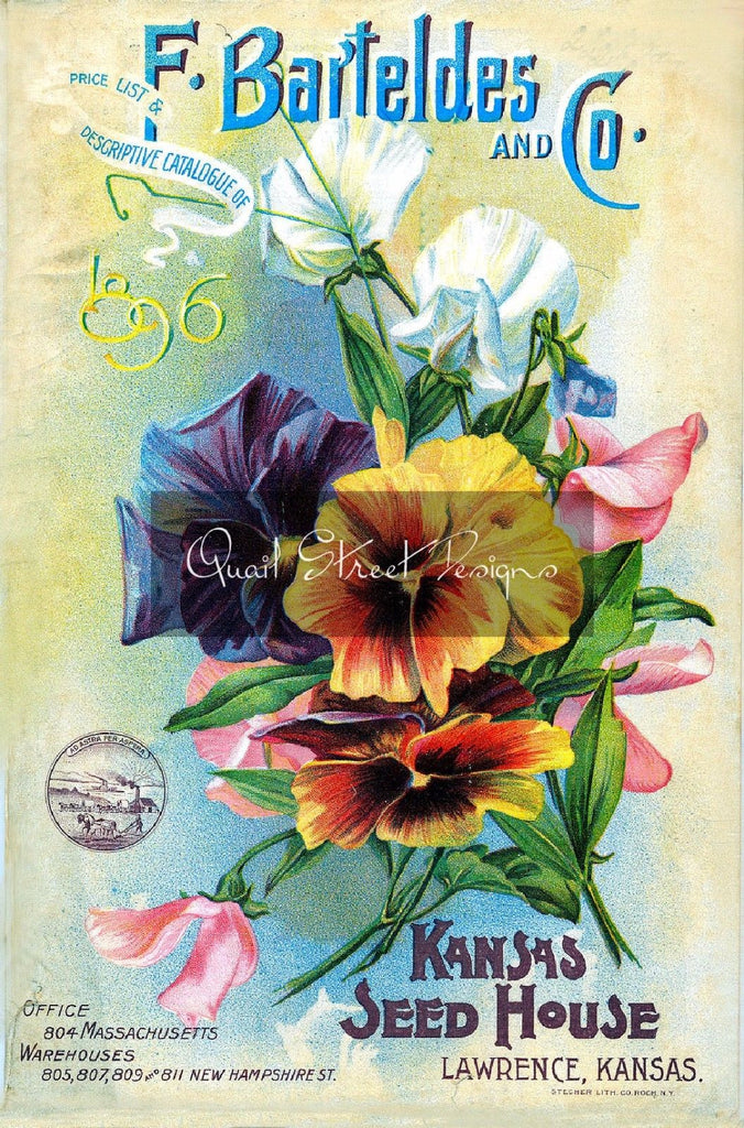 Vintage Seed Catalog - Reprint:  Bartelde Plant & Seed Guide 8X10 - 1896