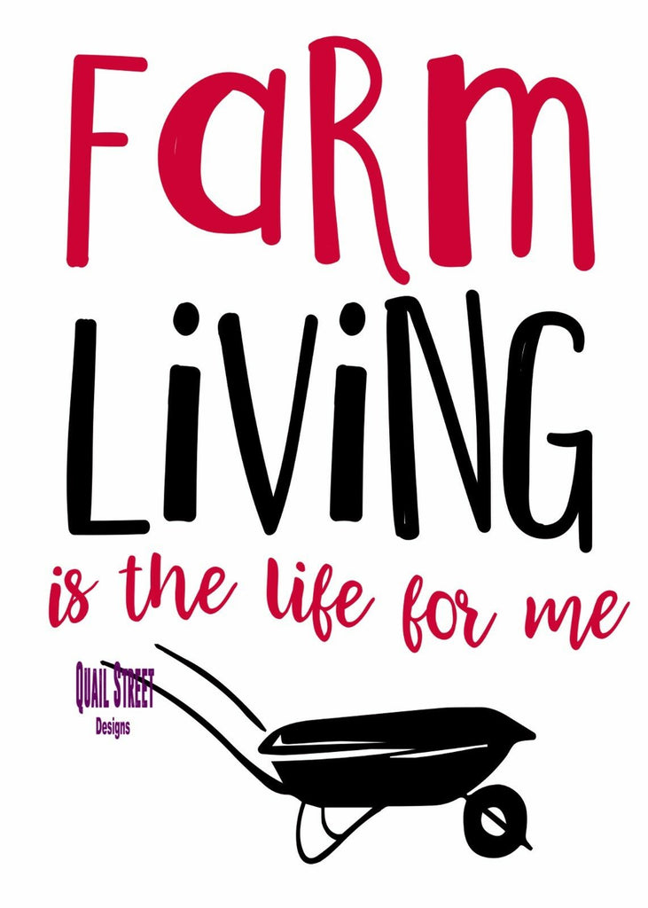 Farm Living Is The Life For Me - Vinyl Decal Free Shipping #238