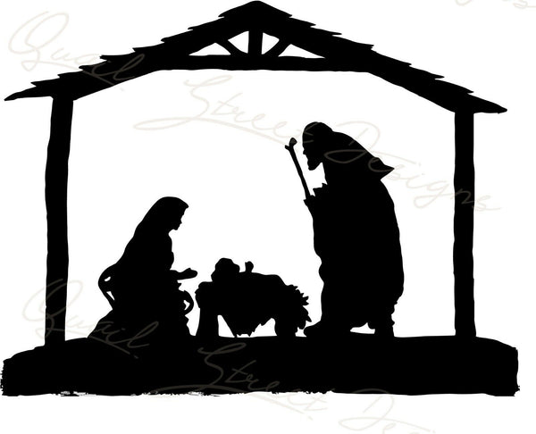Nativity Scene - Vinyl Decal Free Shipping #866