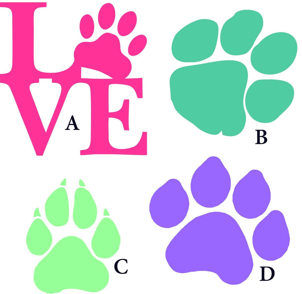 Love Paws Dog Cat - Vinyl Decal - Free Shipping #36