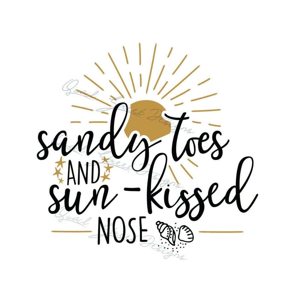Sandy Toes and Sun Kissed Nose - Vinyl Decal Free Shipping #317