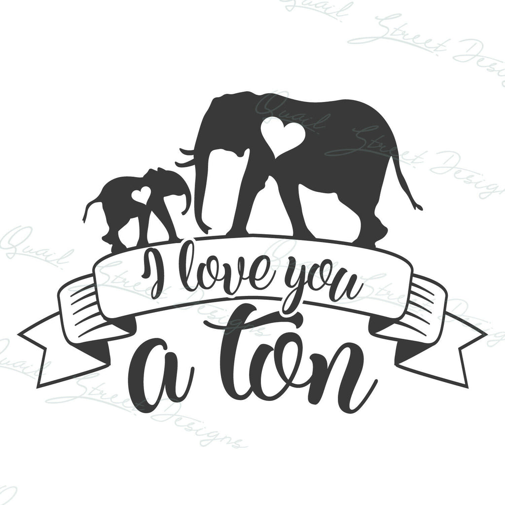 I Love You A Ton - Family, Lover, Marriage, Couple - Vinyl Decal Free Ship 189