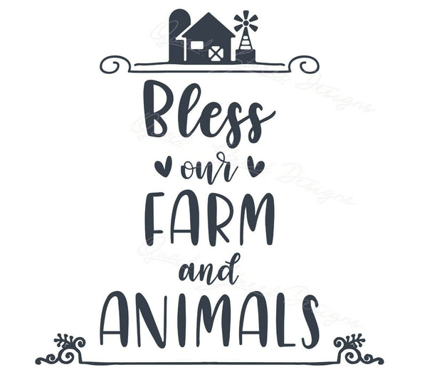 Bless Our Farm And Animals  - Vinyl Decal Free Shipping #1484