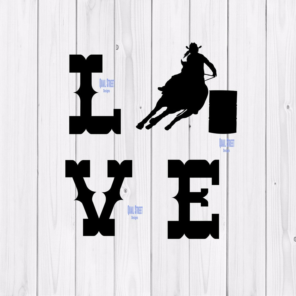Love Barrel Racing - Vinyl Decal - Free Shipping #27