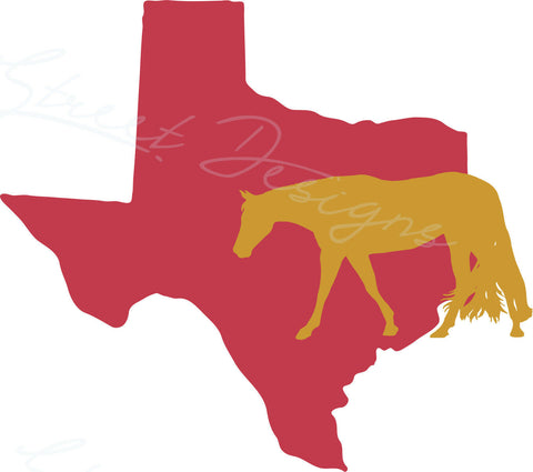 Your State and Western Pleasure Hunt Seat Horse  - Vinyl Decal Free Ship 1043
