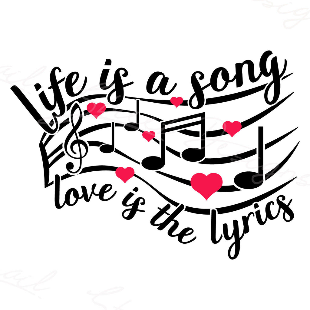 Life Is A Song Love Is The Lyrics - Vinyl Decal Free Shipping #1249