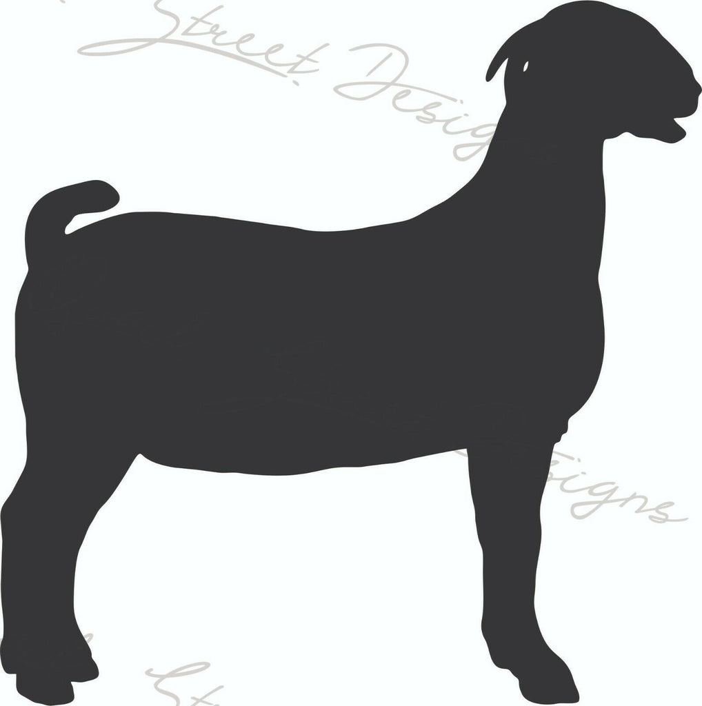 Show Goat Silhouette - Vinyl Decal Free Shipping #1298
