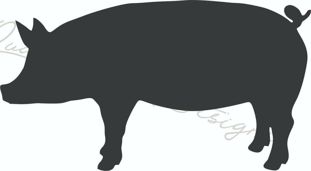 Show Pig - Vinyl Decal Free Shipping #1302
