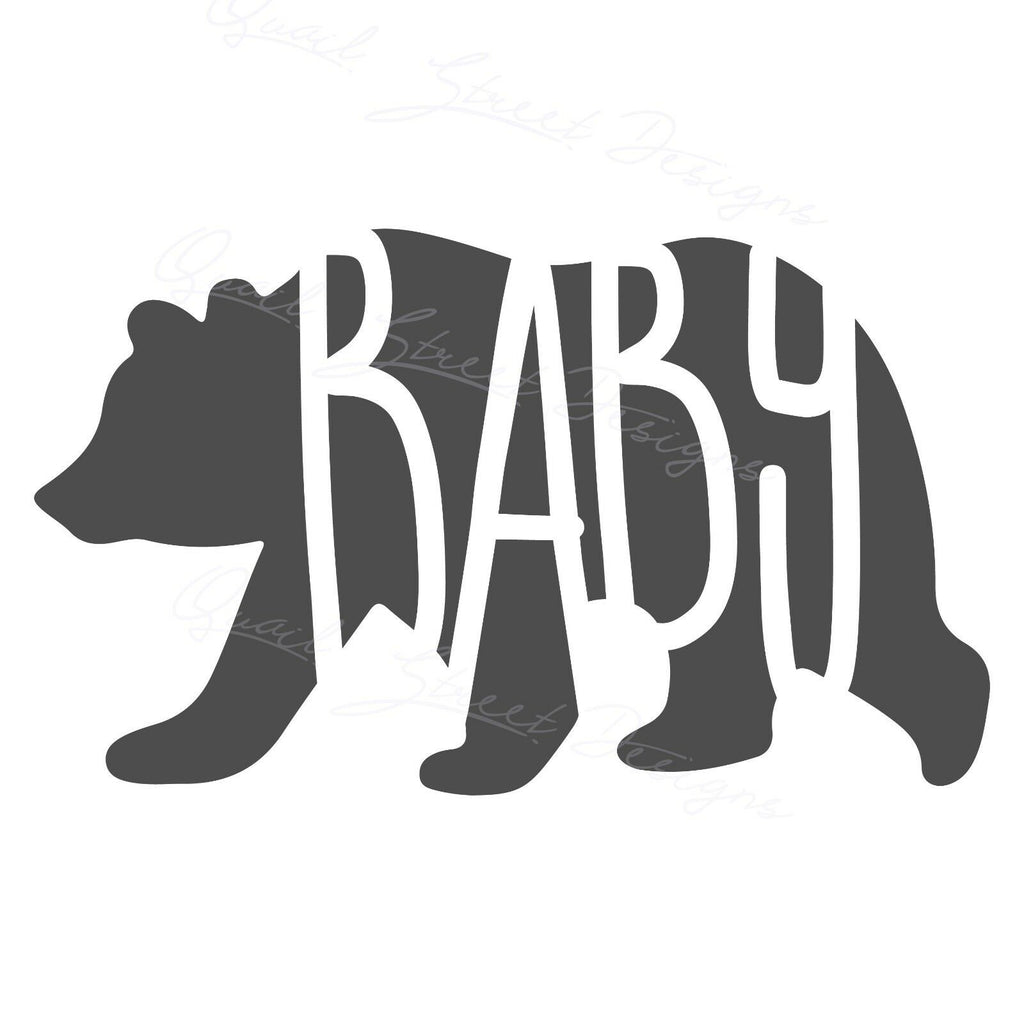 Baby Bear - Tribe Family Child Son Daughter Kid- Vinyl Decal Free Shipping #1202B
