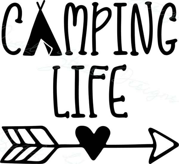 Camping Life - Vinyl Decal Free Shipping #1929