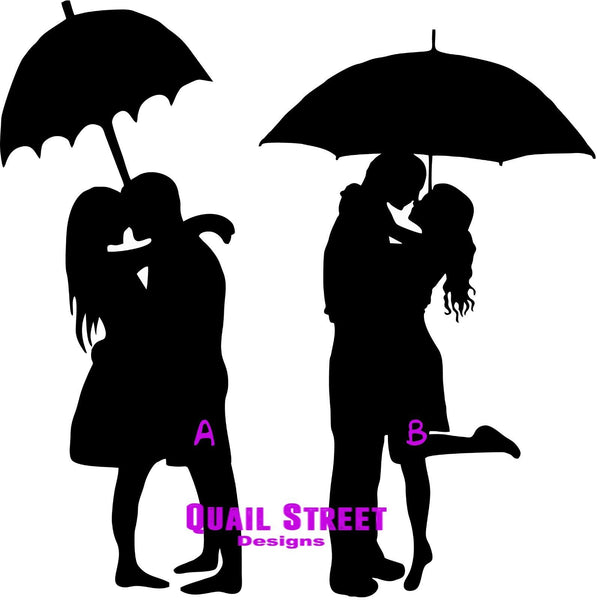 Silhouette Couples - Two To Choose From - Vinyl Decal Free Shipping #608