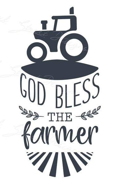 God Bless The Farmer - Vinyl Decal Free Shipping #1483