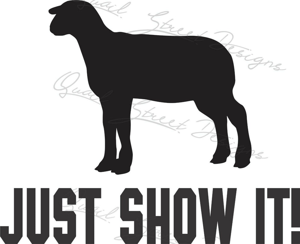 Just Show It!  Lamb - Vinyl Decal Free Shipping #519