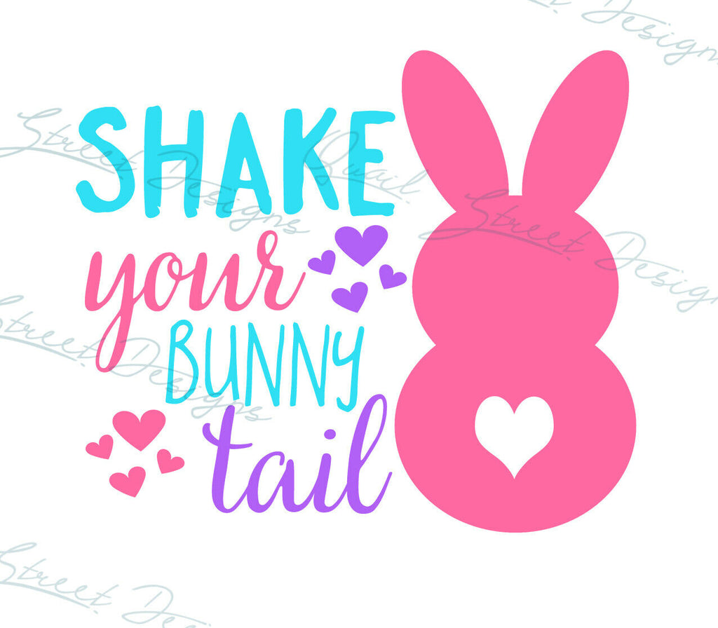 Shake Your Bunny Tail - Vinyl Decal Free Shipping #187