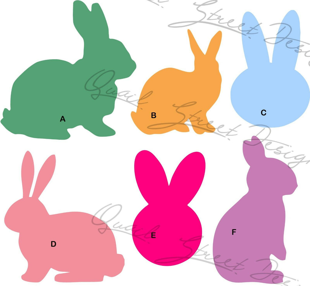 Bunny Silhouette - 6 Different Views- You Pick - Vinyl Decal Free Shipping #7