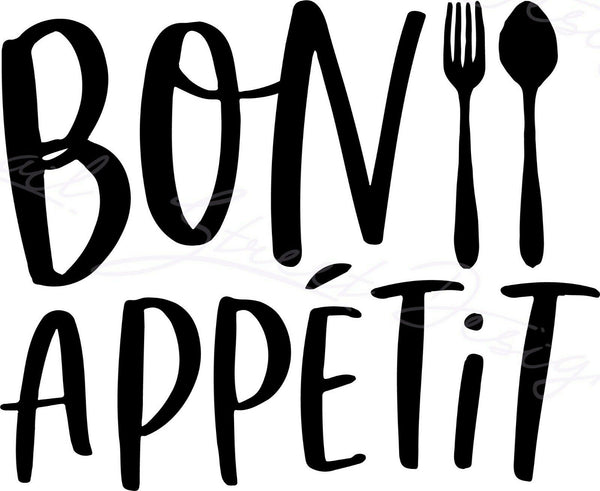 Bon Appetit - Vinyl Decal Free Shipping #1498
