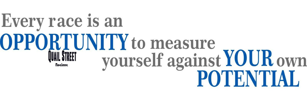 Every Race Is An Opportunity To Measure Your Potential  - Vinyl Decal Free Shipping #315