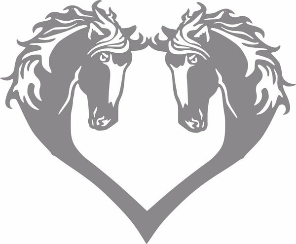 Horse Heart - Vinyl Decal Free Shipping #35