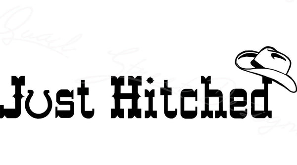 Just Hitched - Vinyl Decal Free Shipping # 379