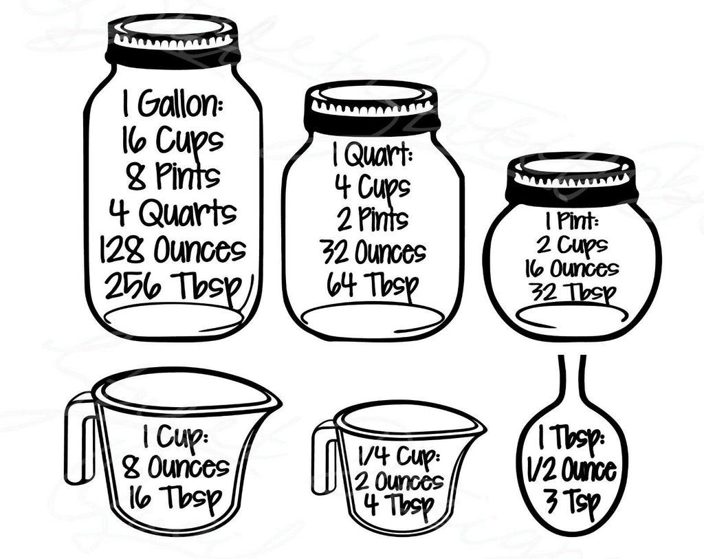 Cooking Measurements - Vinyl Decal Free Shipping #293