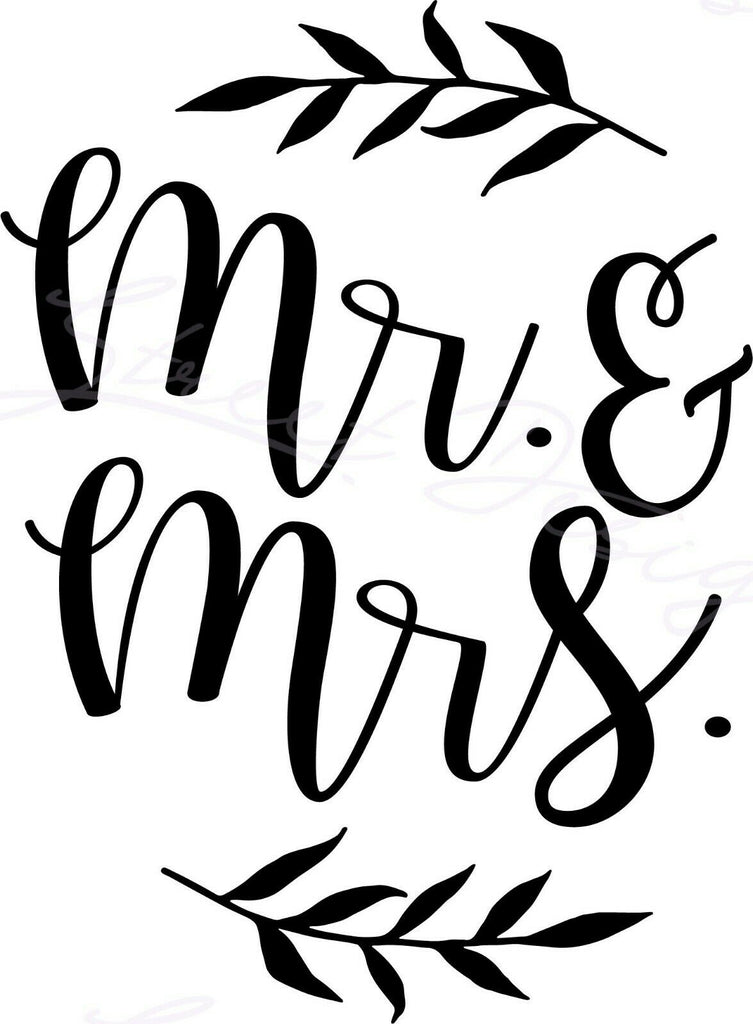 Mr. & Mrs. - Vinyl Decal Free Shipping #1514