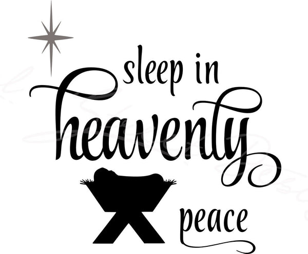 Sleep In Heavenly Peace - Vinyl Decal Free Shipping #448