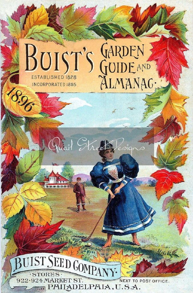 Vintage Seed Catalog Reprint: Buist Seed Co Garden Guide & Almanac 1896 - 8X10