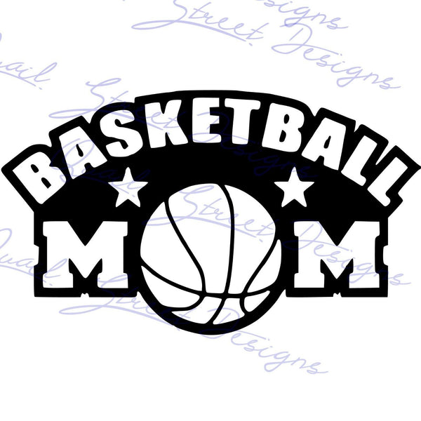 Basketball Mom - Vinyl Decal Free Ship #730