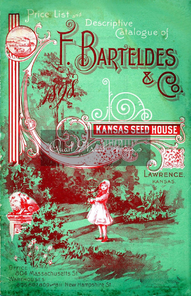 Vintage Seed Catalog - Reprint:  Bartelde Plant & Seed Guide 8X10 - Kansas Seed