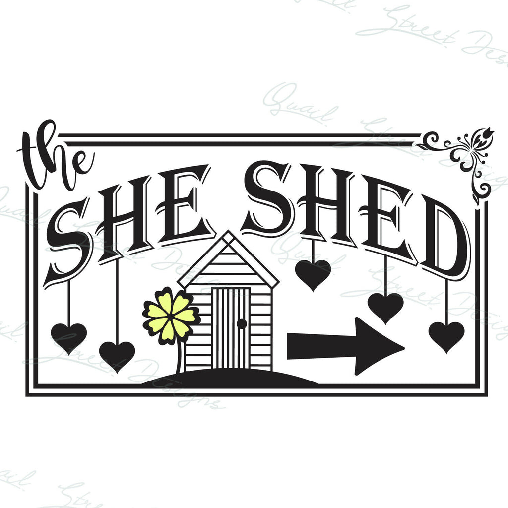 She Shed - Vinyl Decal Free Shipping #155