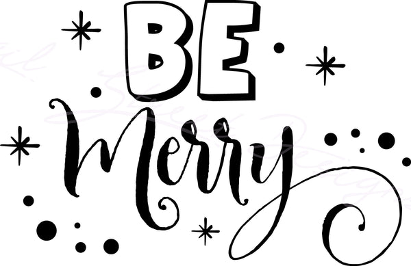 Be Merry - Vinyl Decal Free Shipping #814
