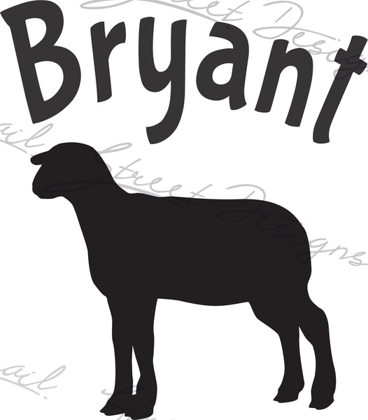 Personalized Lamb Sheep - Vinyl Decal Free Shipping  #2029