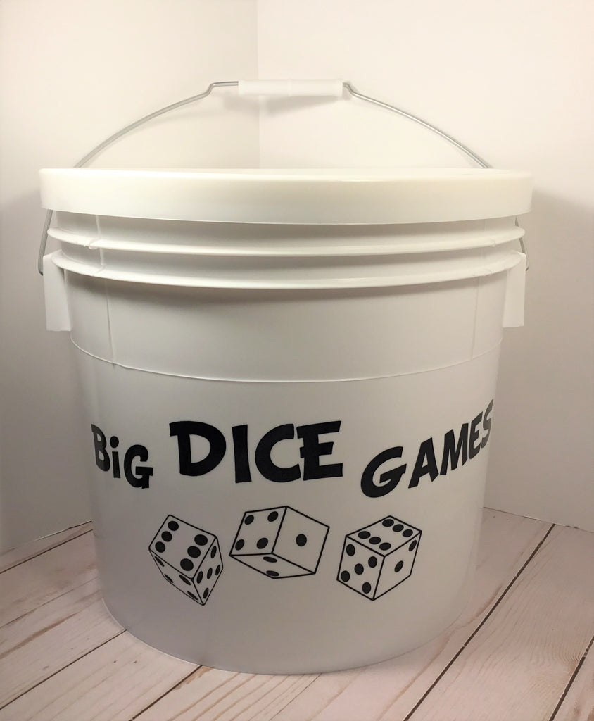 "Big Dice Game - SIX 3"" X 3"" Birch Dice - Yardzee, Farkle, Yahtzee."