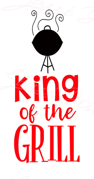 King Of The Grill - Vinyl Decal Free Shipping #762