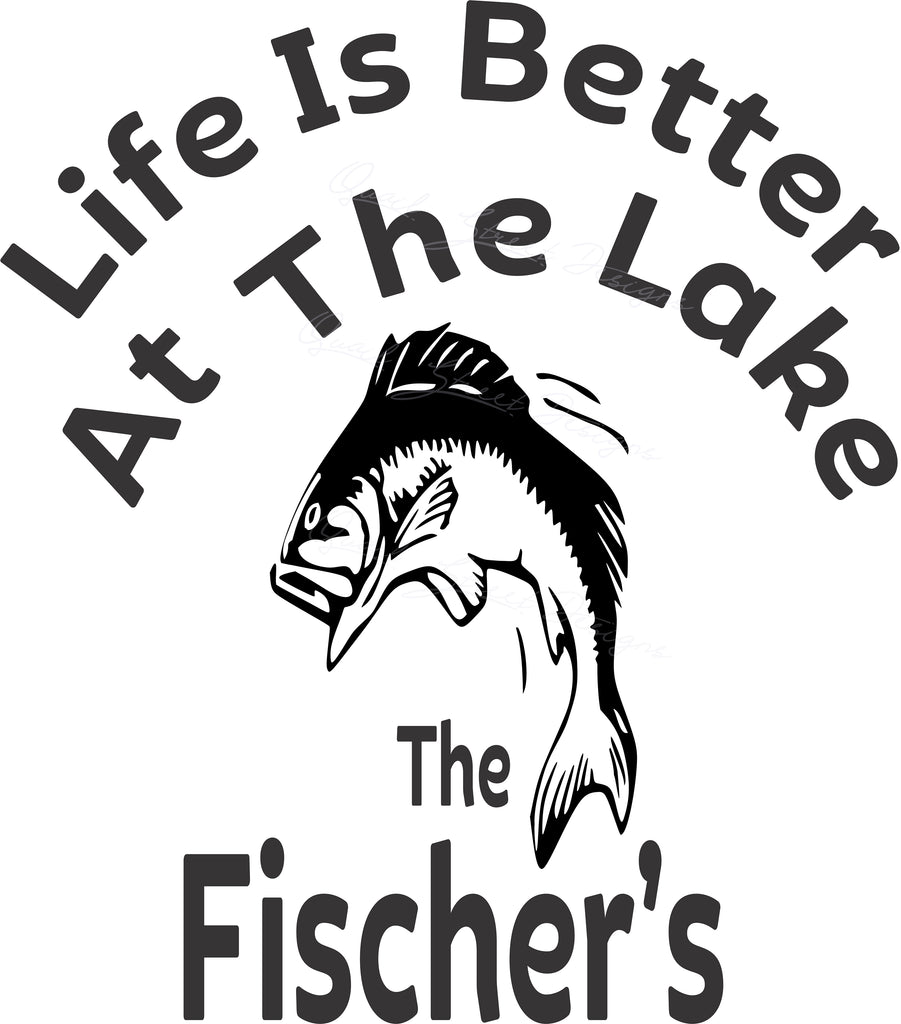 Life Is Better At The Lake - Personalized  - Vinyl Decal #1530