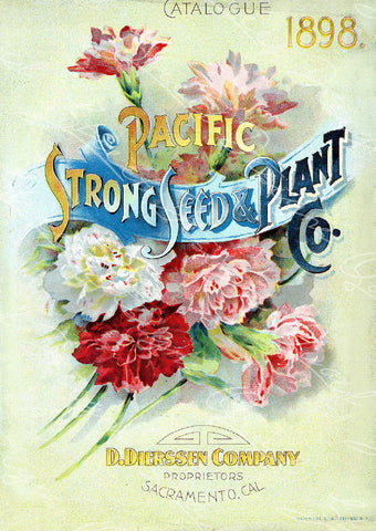 Vintage Seed Catalog - Reprint:  Cover of Pacific Strong Seed & Plant Company Plant & Seed Catalog   8X10 Print  QSDP-99