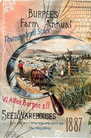 Digital Download - Vintage Seed Catalog - Back Cover of Burpee's 1887 Farm Annual Plant & Seed Catalog  -  QSDP-59