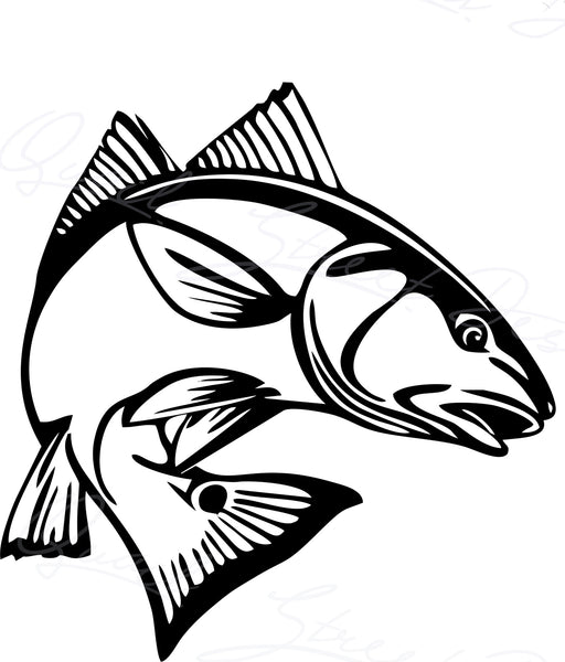 Red Fish - Fishing - Digital Download SVG #1529
