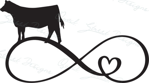 Heifer Infinity Heart - Digital Download SVG Cut File - #1364
