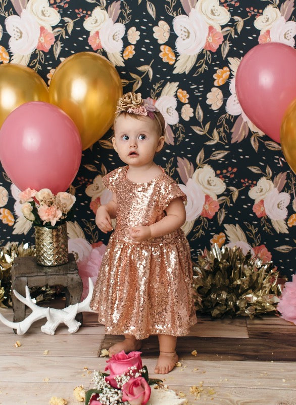 46954a647c7 Rose Gold Sequin Party Dress by Bailey s Blossoms - Treasure Tree ...