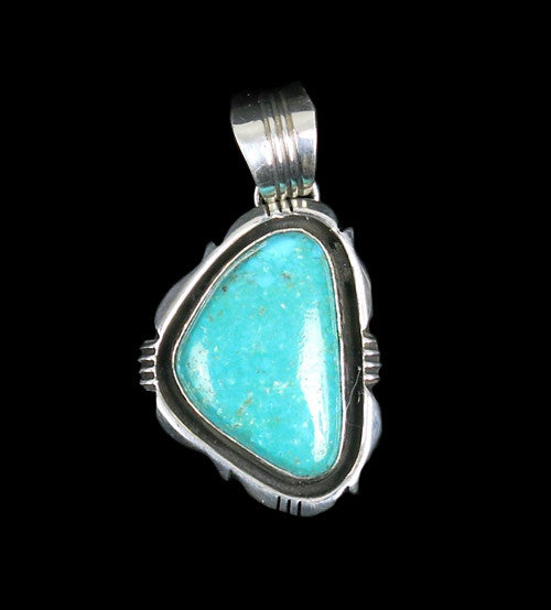 d57edfa62 Kingman Turquoise and Sterling Silver Pendant by Will Denetdale (#280)