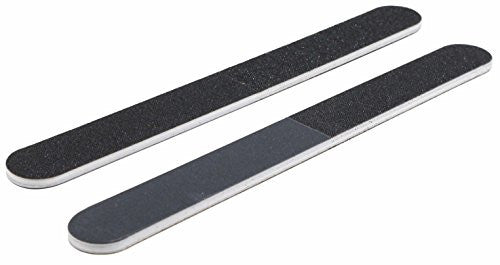 Professional Quality Nail File, Black 4 Way, White Center (100-180/240-600) 12 Pack
