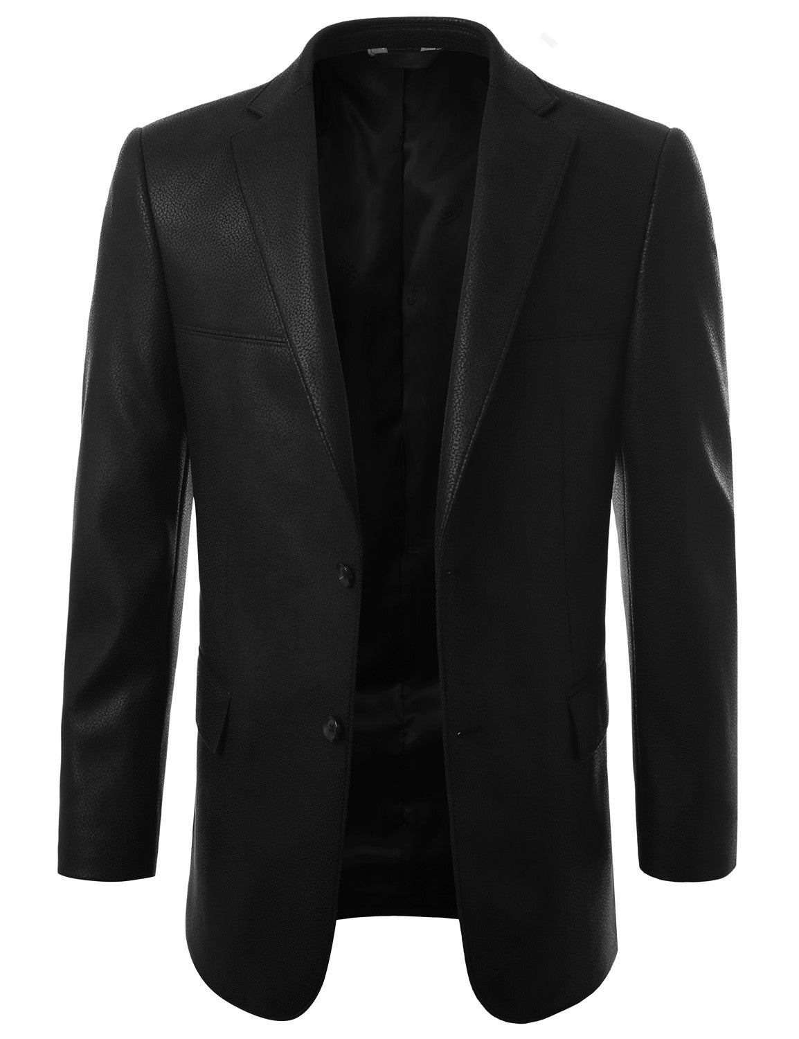 Leather Look Modern Fit Coat Jacket- MONDAYSUIT