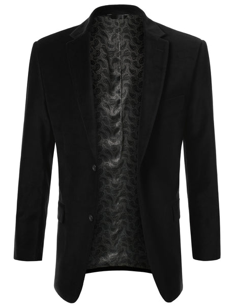 01BLACK Cotton Velvet Sport Blazer