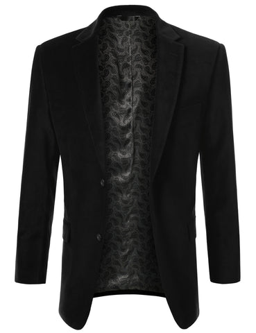 Black Cotton Velvet Sport Blazer