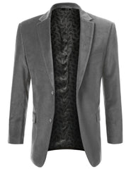 03GRAY Cotton Velvet Sport Blazer