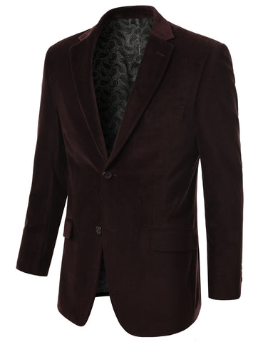 Brown Cotton Velvet Sport Blazer