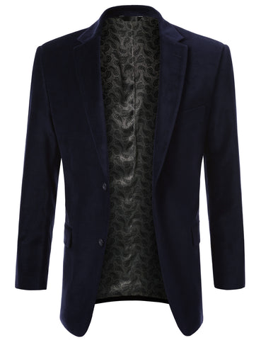 Blue Cotton Velvet Sport Blazer