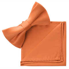 PEACH Bow Tie and Handkerchief Set- MONDAYSUIT